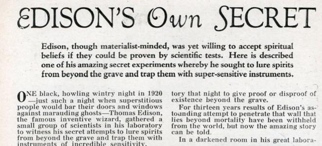 Edisons own secret